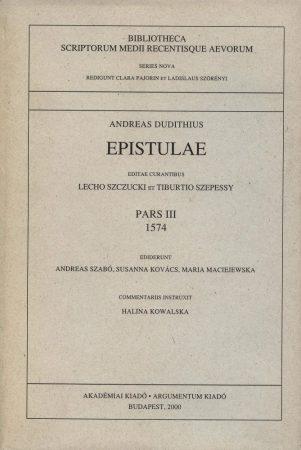 Epistulae Pars III. 1574