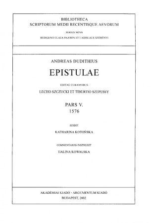 Epistulae Pars V. 1576