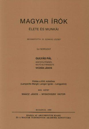 Magyar írók élete és munkái XVIII.