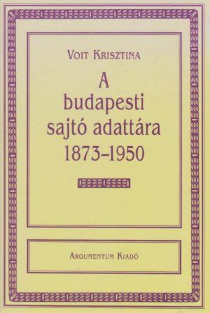 A budapesti sajtó adattára 1873-1950