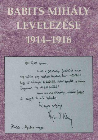 Babits Mihály levelezése 1914–1916