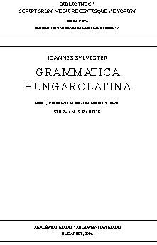 Grammatica Hungarolatina