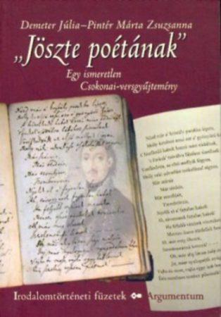 Jöszte poétának – Irodalomtörténeti füzetek 156.